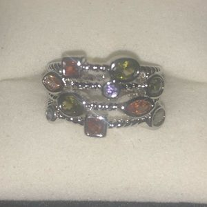 Multi stone gem ring size 7